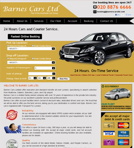 Barnes Cars Ltd - Taxi Booking Online Website