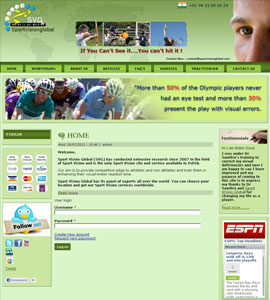 Sports Vision Global Website Design Service