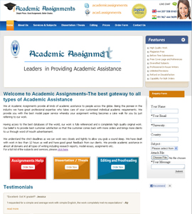 Academic Assignments Online Brochure Web Design