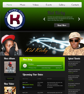 Kid Kirby Music Group Website Design