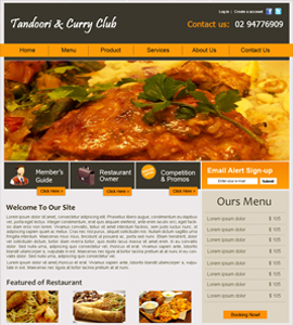 Tandoori Club Takeaway Website Design