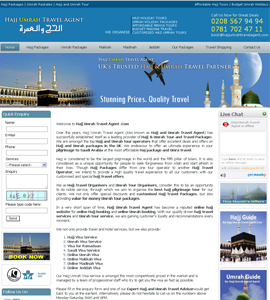 Hajj Umrah Travel Agent Affordable Website Design Service