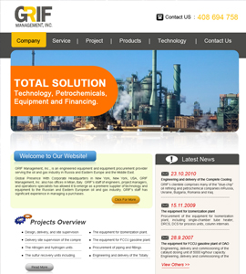 GRIF Management Industrial Website Design