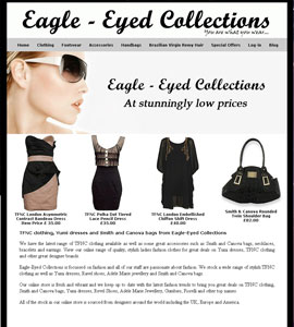 Eagle Eyed Fashion Collections Online Web Page